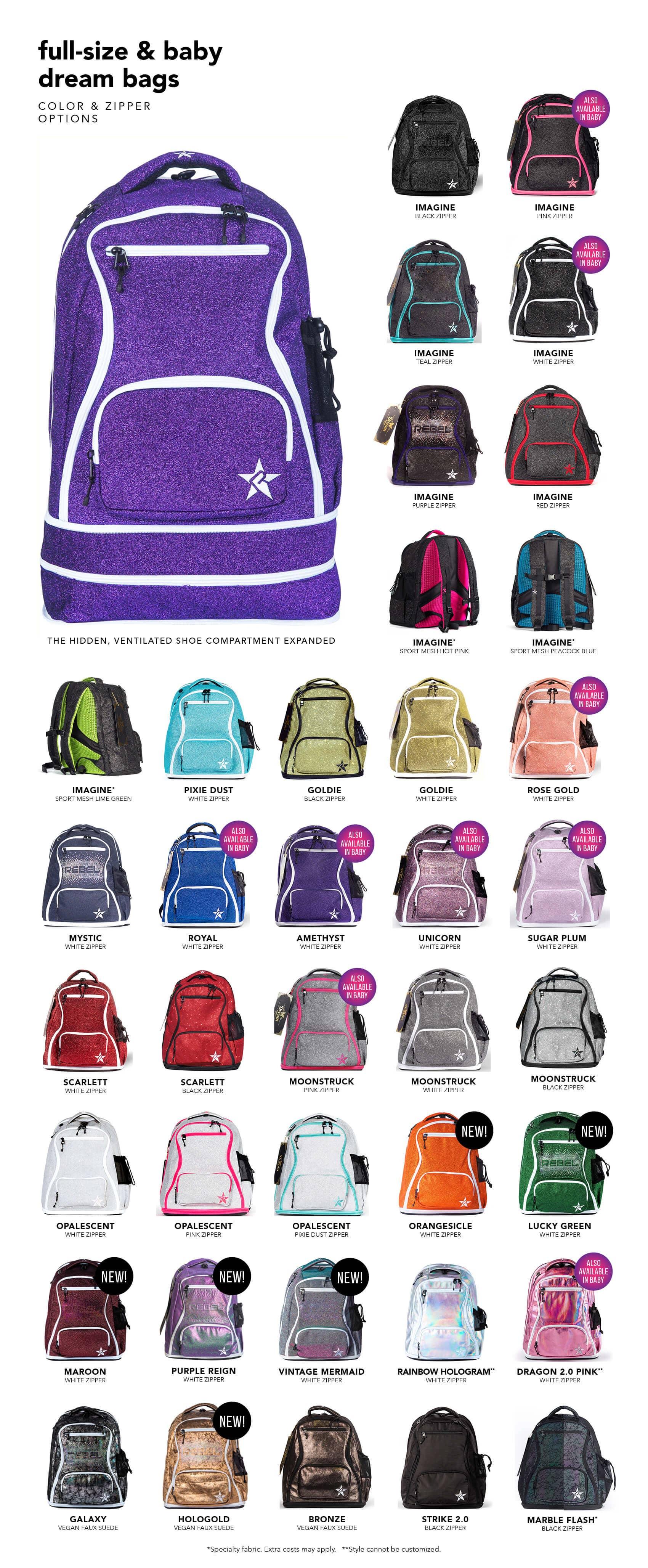 Dream Bag Color Options